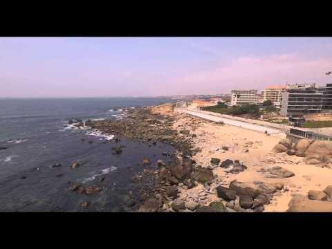 Vista aérea da Praia da Madalena - Vila Nova de Gaia
