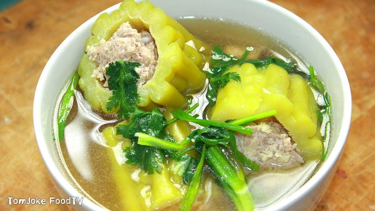 แกงจืดมะระยัดไส้หมูสับ ต้มอย่างไรไม่ให้ขม  Stuffed Bitter Melon soup