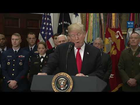WATCH: President Trump Signs H.R. 2810, National Defense Authorization Act for Fiscal Year 2018