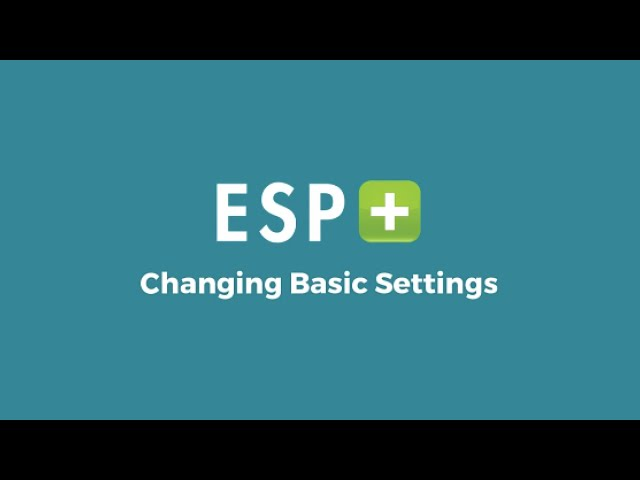 Video 3: Changing Basic Settings