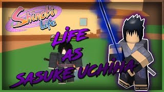 ROBLOX Shinobi Life OA - Life As Sasuke Uchiha | I TOOK OVER THE LEAF VILLAGE!