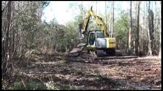 Pensacola Land Clearing RFCC inc. cuts 4 mile right of way thru Escambia River Swamp
