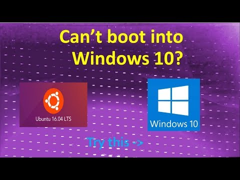 Can't boot into Windows 10? - Stuck at purple boot screen