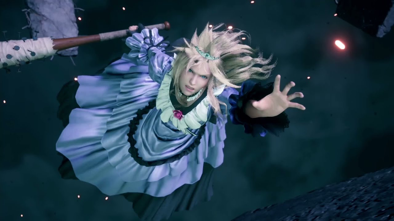 No Context FF7R: A Cross Dressed Cloud Shows off his Skills...then Breaks the game