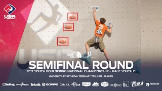 Male Youth D • Semifinals • 2017 Youth Bouldering Nationals • 2/11/17 12:40 PM