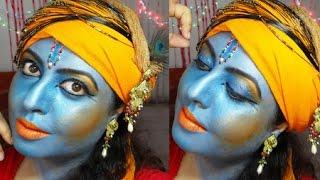Shri Krishna Makeup Tutorial | Indian Mythology | Janamashtami | IndianBeautyReviewer