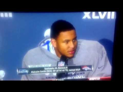 Malcolm Smith Super Bowl XLVIII MVP Interview - 9/11 Conspiracy