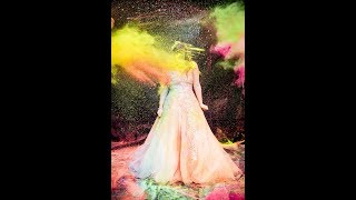 Bride Trashes Wedding Dress with Colour Run Paint from PaintGlow