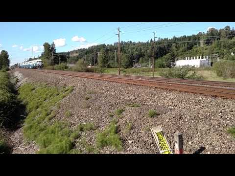 Sounder Commuter Train at MP 26.4X (Sumner, Wash).