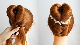 French Style Bun Hairstyles With Braids Updo Hairstyles Prom Simple Hairstyle Girl
