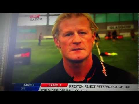 Colin Hendry makes a cheeky wink then mistake