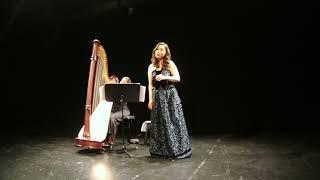 Clair de lune - G. Fauré  Narea Son & Amandine Carbuccia 소프라노 손나래, 하프 아망디네 카르부챠