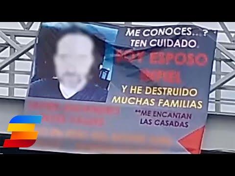 Exponen a supuesto esposo infiel en Saltillo
