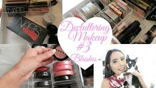 DECLUTTER MY MAKEUP COLLECTION + GIVEAWAY 2017! EPISODE #3 BLUSH