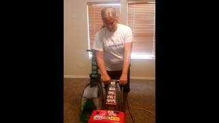 bissell big green deep cleaning machine vs the rug doctor a carpet cleaner rental comparison
