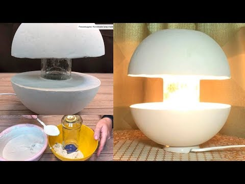 Amazing concrete lamp! How to make your own hands?