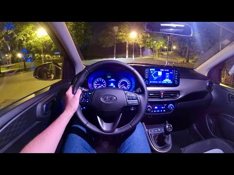 New HYUNDAI i10 (2020) - Night POV test drive  & FULL REVIEW (nice interior & navigation) 84 HP