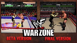 WWF War Zone - Beta vs Final   (N64 and PS1)