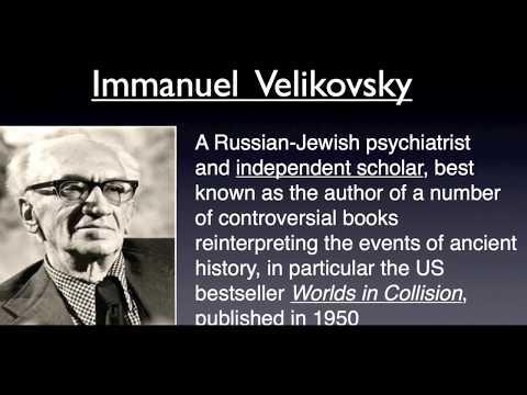 IMMANUEL VELIKOVSKY, 1964.  Worlds IN Collision