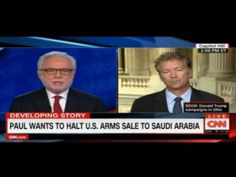 Senator Rand Paul Rebukes Blitzer on $1.15B Saudi 'Arms for Jobs' Stance