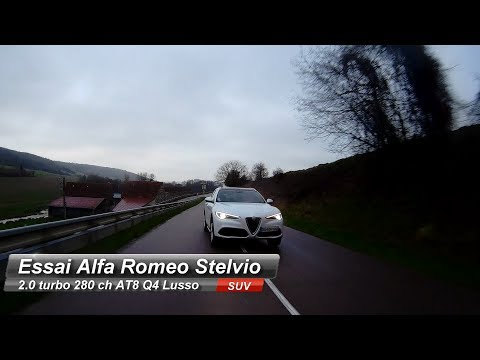 Essai Alfa Romeo Stelvio 2.0 turbo 280 ch AT8 Q4 Lusso  : L'alternative aux SUV allemands