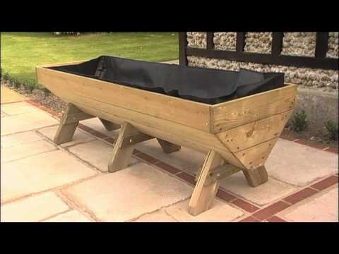 High Quality Small Space Gardening With A Harrod Manger Raised Planter