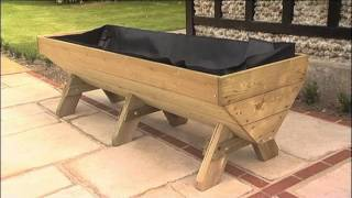 Small Space Gardening With A Harrod Manger Raised Planter