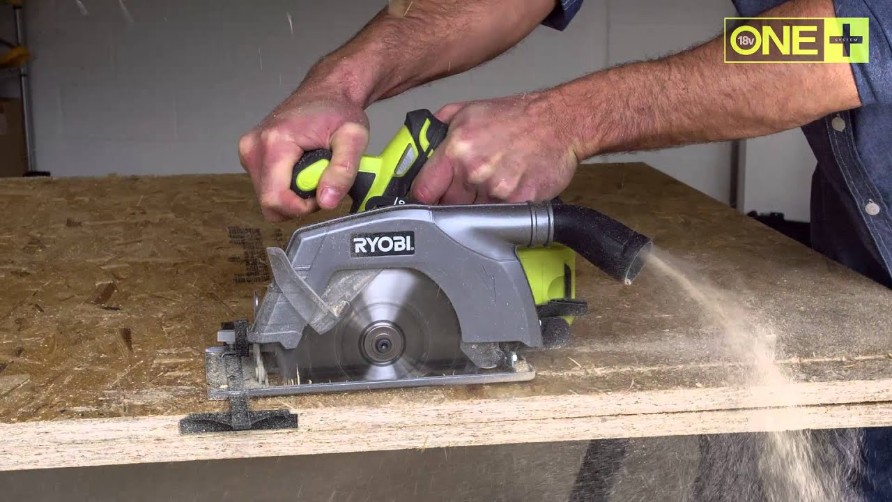 Ryobi 18v one circular saw r18cs youtube keyboard keysfo Image collections