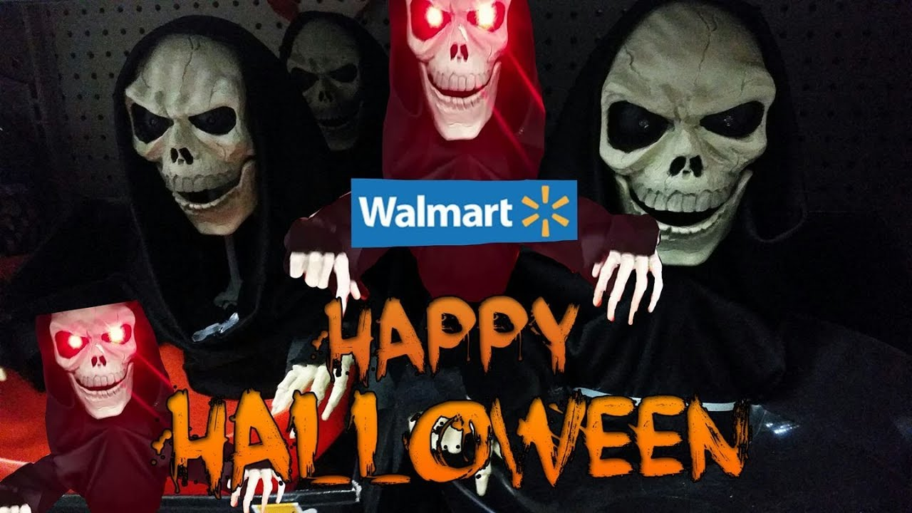 walmart halloween costumes display skeleton and pj mask basket halloween decor 2017