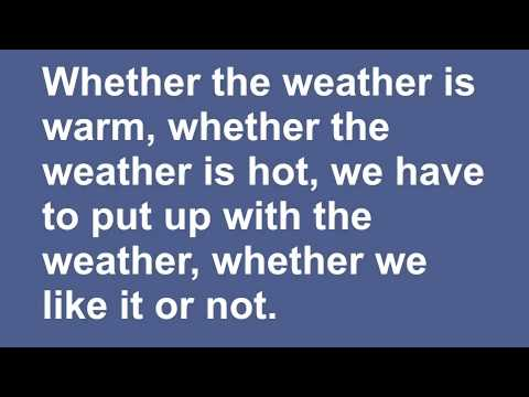 Whether the Weather Tongue Twister