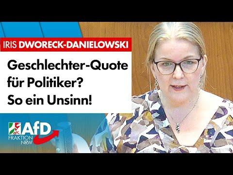 Geschlechter-Quote für Politiker? Grüner Unsinn! – Iris Dworeck-Danielowski (AfD)