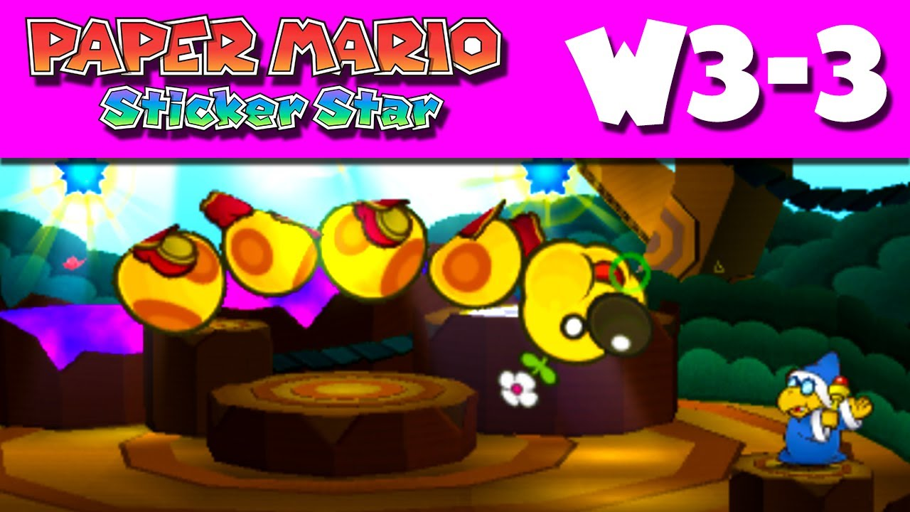You can see the tree which this tree house castle clings to through - Paper Mario Sticker Star Gameplay Walkthrough World 3 3 Wiggler S Tree House Nintendo 3ds Youtube