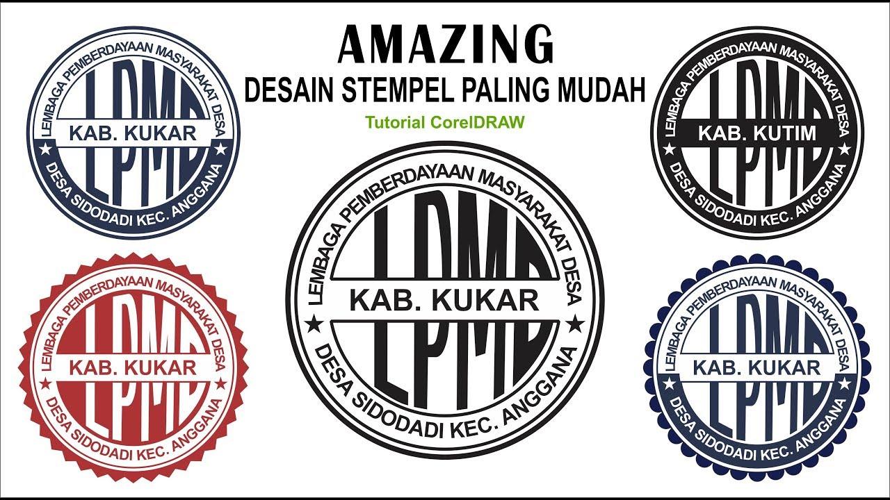 AMAZING  Desain Stempel MUDAH dengan CorelDRAW - Stamp ...