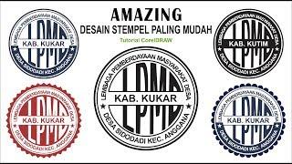 Amazing   Desain Stempel Mudah Dengan Coreldraw - Stamp Design