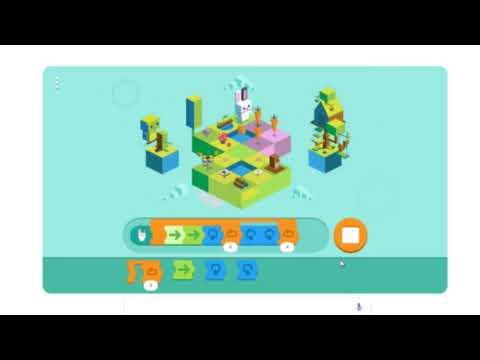 Google Doodles - Dec. 4th 2017 Shortest Solution - Celebrating 50 years of Kids Coding