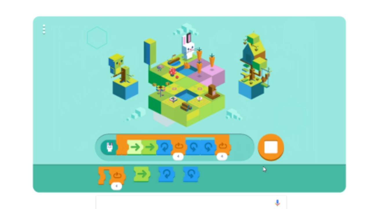 a25f9f043157 Google Doodles - Dec. 4th 2017 Shortest Solution - Celebrating 50 years of Kids  Coding