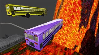 BeamNG drive - School Bus Crashes & Jumps #65 | BeamNG-Destruction