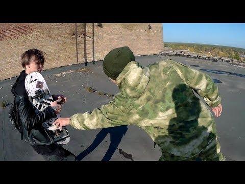 Побег от охраны. Драка с охраной. Побил охранника скейтом. Спас друга