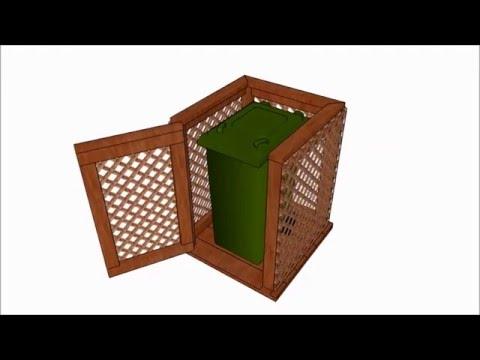 Trash can enclosure plans
