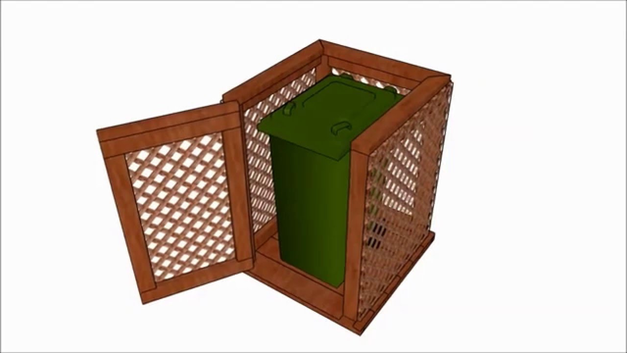 Trash can enclosure plans - YouTube