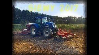 Siew rzepaku kombinacją Kverneland 2017☆ New Hollandt6070 ㋡ Agro rolnictwo