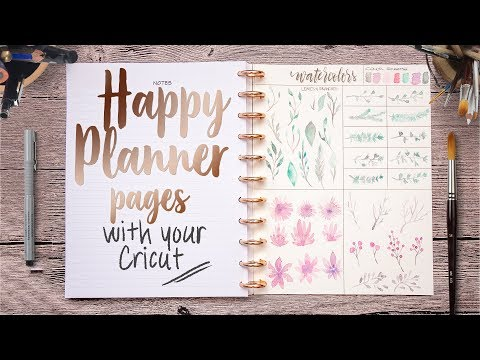 How to make Happy Planner pages with your Cricut