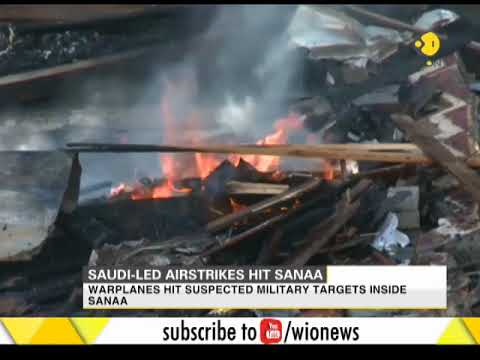 Saudi-led airstrikes hit Yemen's capital Sanaa