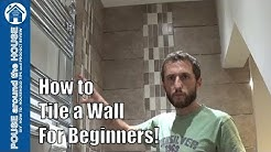 How to tile a bathroom/shower wall, a beginners guide. Tiling made easy for the DIY enthusiast!