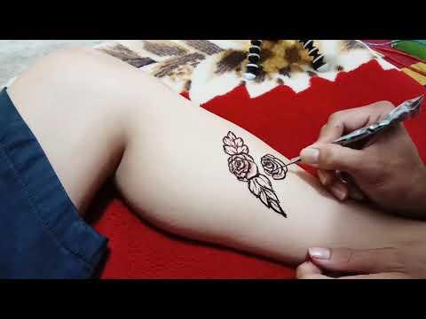 HENNA ART..!! TUTORIAL MEMBUAT 3D ROSE By Chandra Wedding Henna Art thumbnail