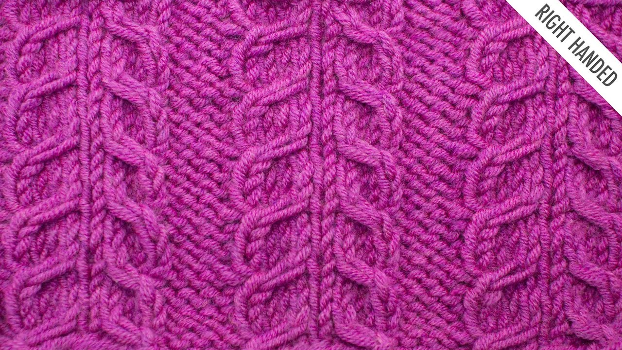 7f14fab018a808 The Inverted Gull Cable Panel Stitch    Knitting Stitch  522    Right Handed