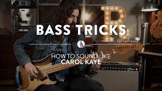 The Carol Kaye Bass Sound & Technique | Reverb Bass Tricks
