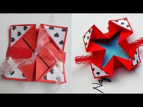 DIY Napkin Fold Card for Exploding Box/ Scrapbook || Tutorial for Scrapbook  || Handmade Card ||