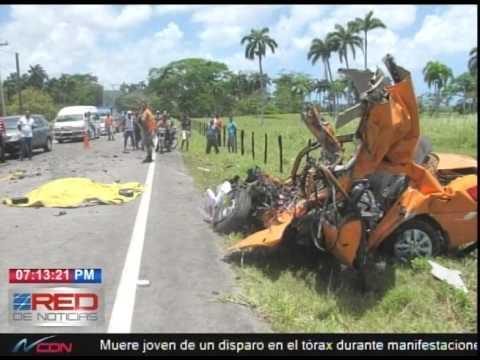 Un muerto en accidente de tránsito en Río San Juan, María trinidad Sánchez
