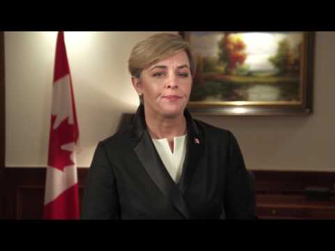 A moment of silence with Kellie Leitch
